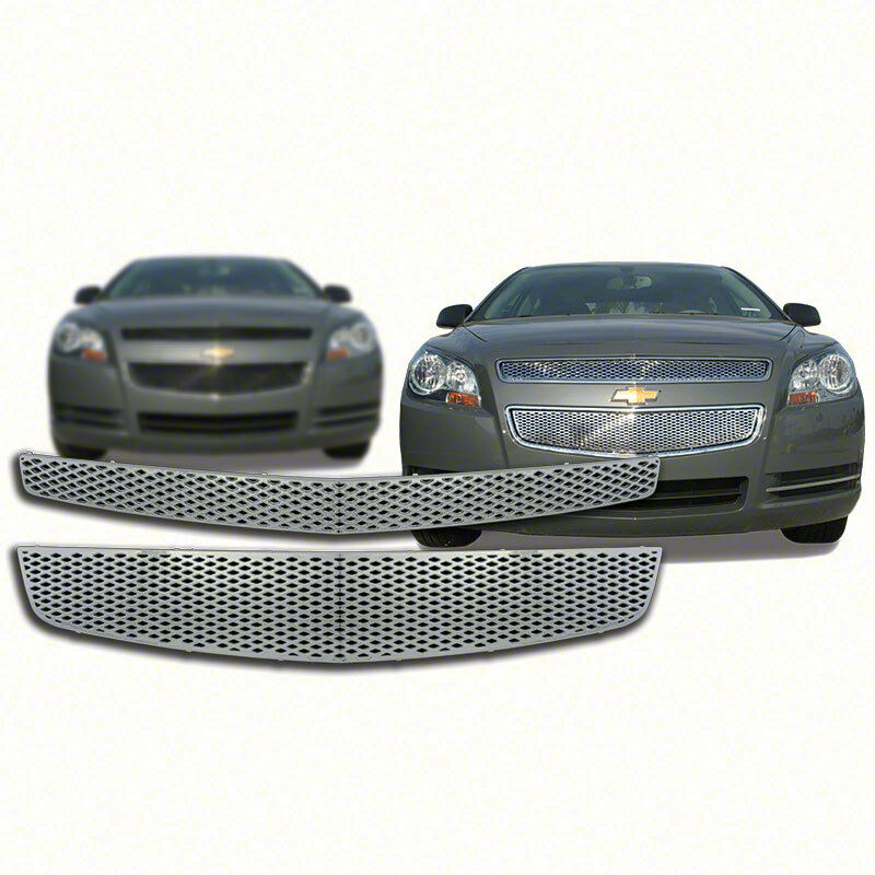Top+Bottom Chrome Grille Overlay For 2008-2012 Chevy