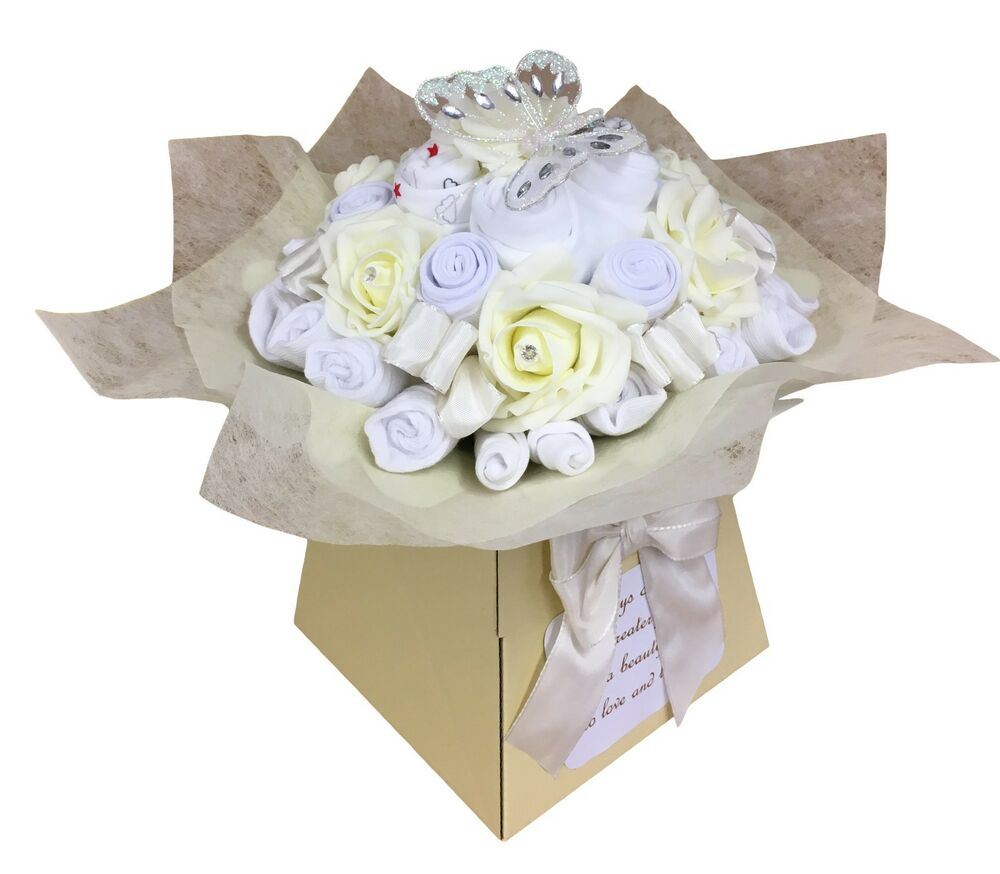 Baby Gift Item : Baby bouquet items of clothes shower gift