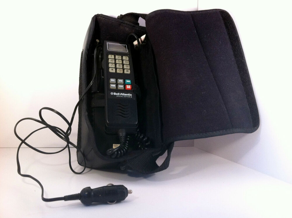 Motorola Vintage Car Phone 1984 Bell Atlantic With Case Battery Car Charger Ebay