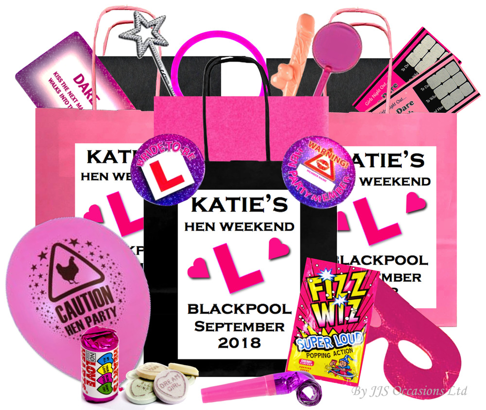 HEN DO PARTY GIFT BAGS 12 ITEMS **PRE FILLED