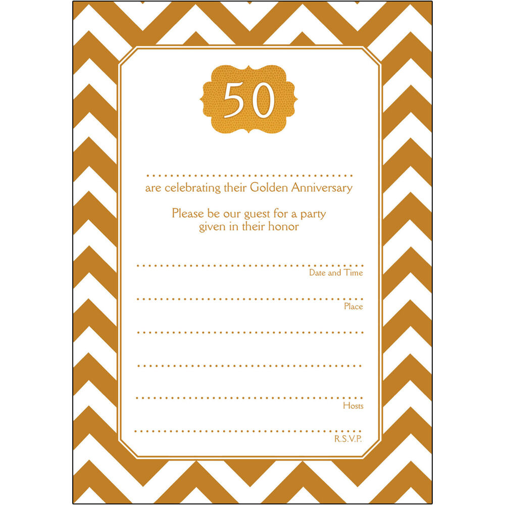 10 Year Wedding Anniversary Invitations: 50 Years Golden Wedding Anniversary Party Invitations