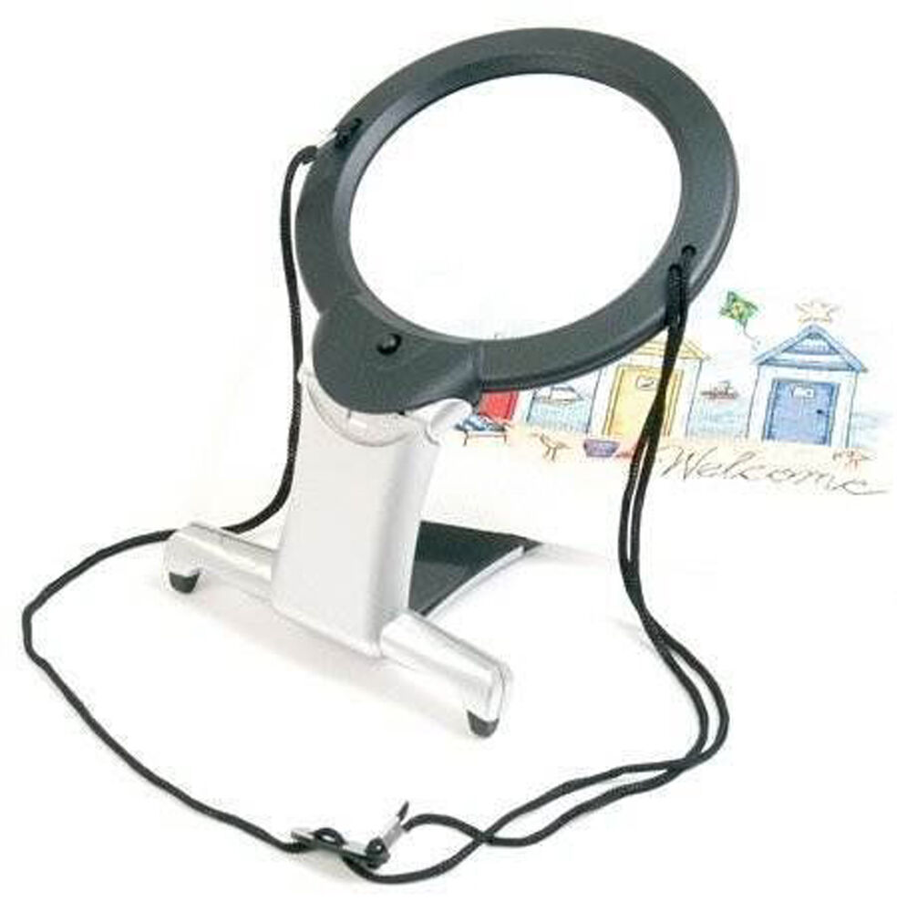 2 In 1 Illuminated Hands Free Magnifier Led Ebay