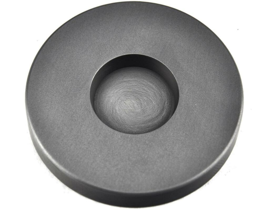3 Troy Oz Round Gold Graphite Ingot Coin Mold Melting