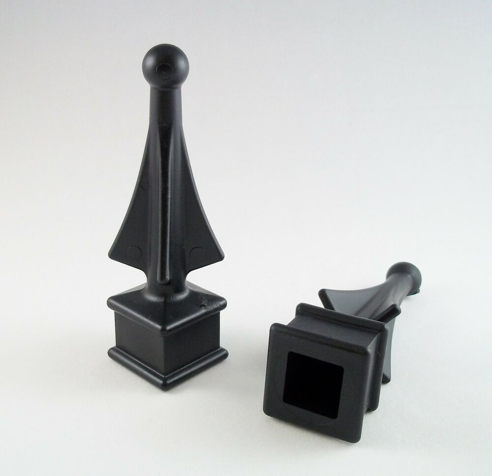 10 Ea 1 2 5 8 3 4 Quot Black Plastic Finial Tops For Wrought