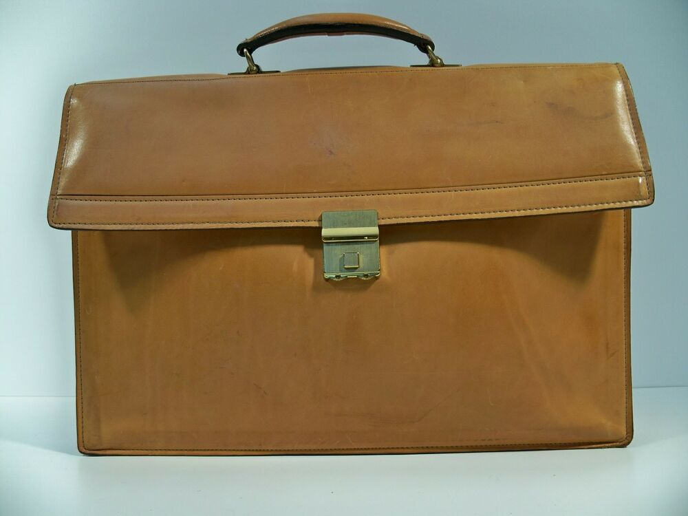 hartmann vintage original belting leather briefcase