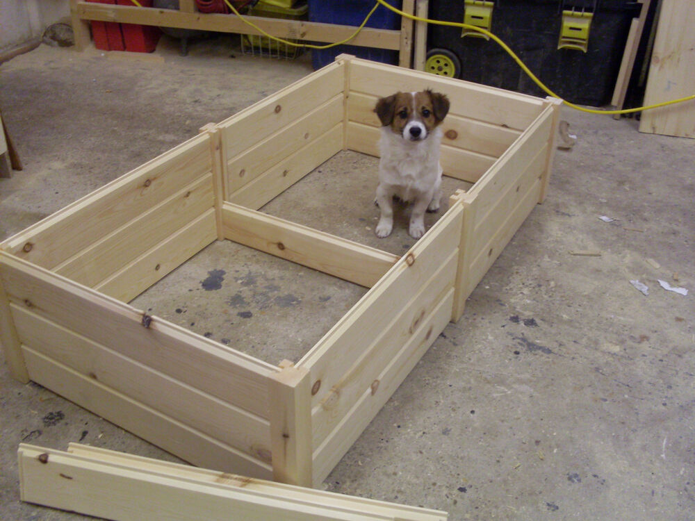 Wooden dog puppy whelping box bed very high quality 3 for Wooden attic box bed