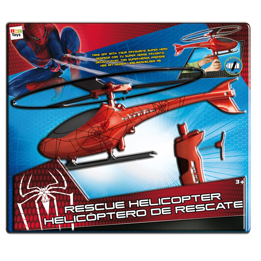 Brand New Toys : Spiderman rescue helicopter toy imc toys brand new