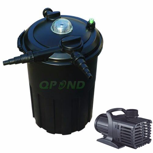 New 4000 gal pond pressured filter 24w uvc bio filter for Water filter pump for fish pond