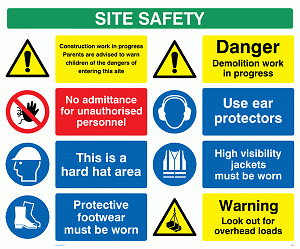 Building Site Safety Boards / PPE signs | eBay