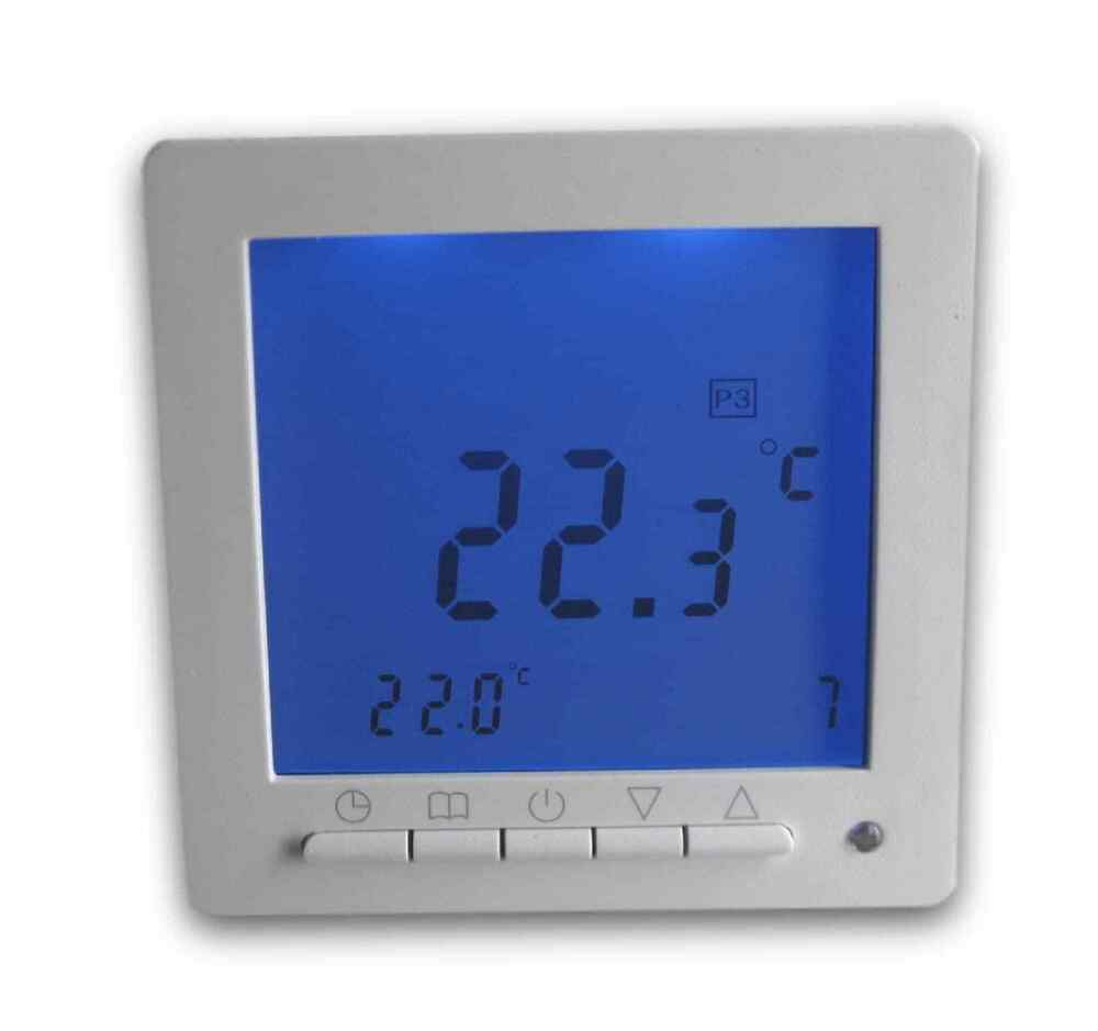digital thermostat f r fussbodenheizung max 16a. Black Bedroom Furniture Sets. Home Design Ideas