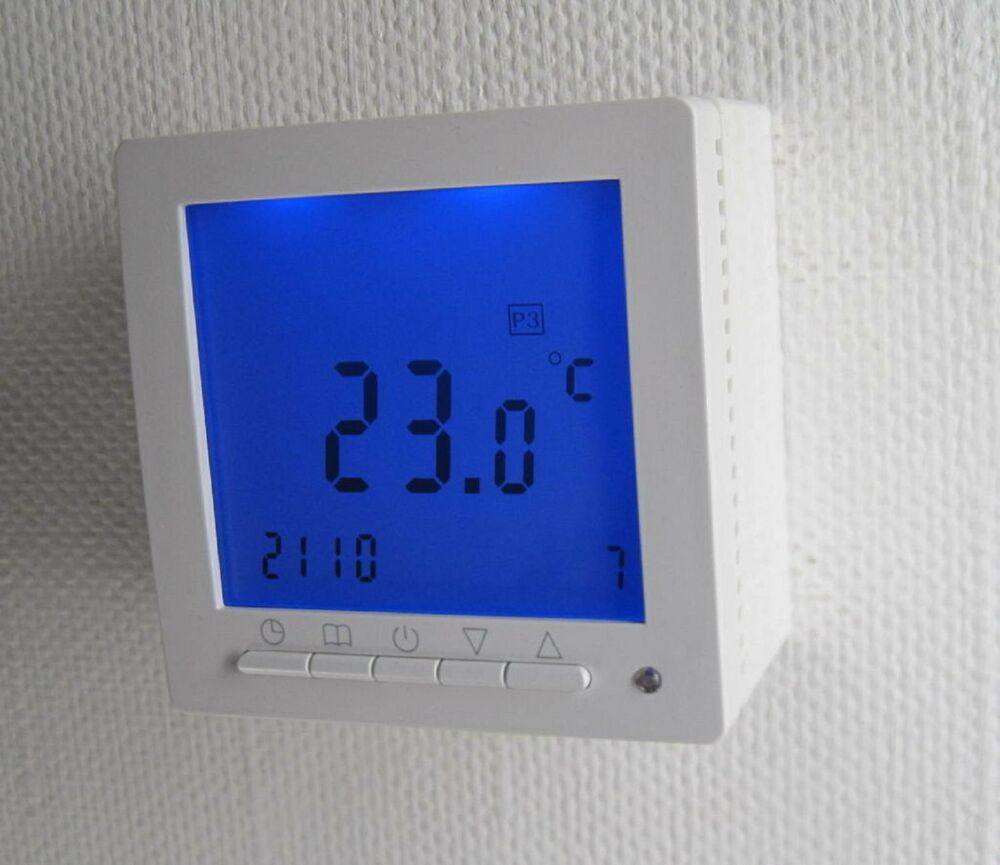 digital thermostat aufputz f r fussbodenheizung max 16a. Black Bedroom Furniture Sets. Home Design Ideas
