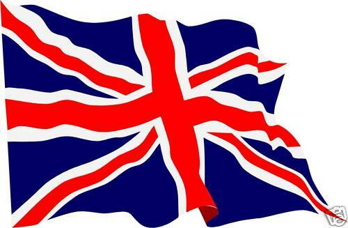 waving union jack flag stickers x 4 decals great britain