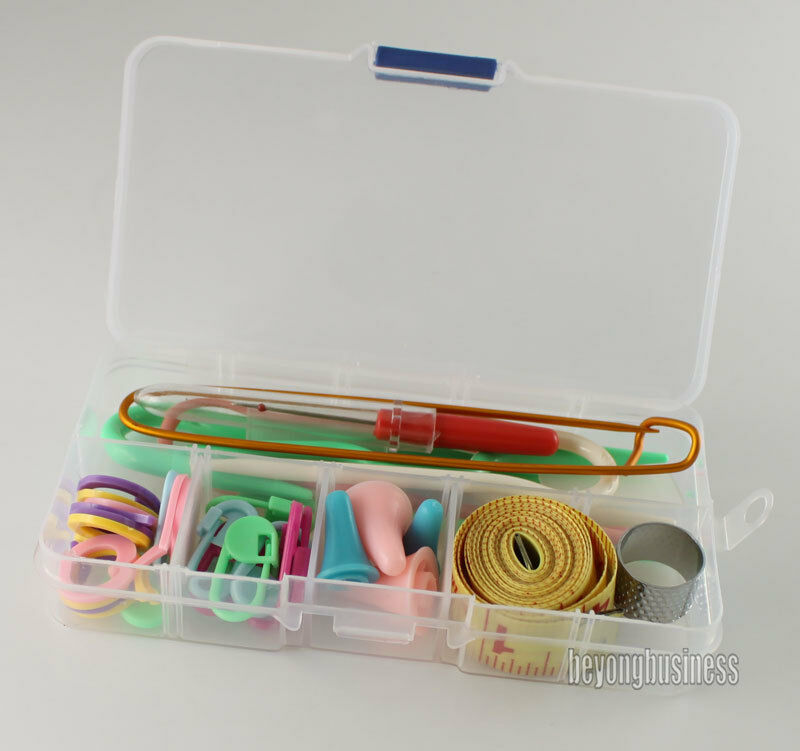Knitting Tools List : Set of basic knitting tools accessories supplies with