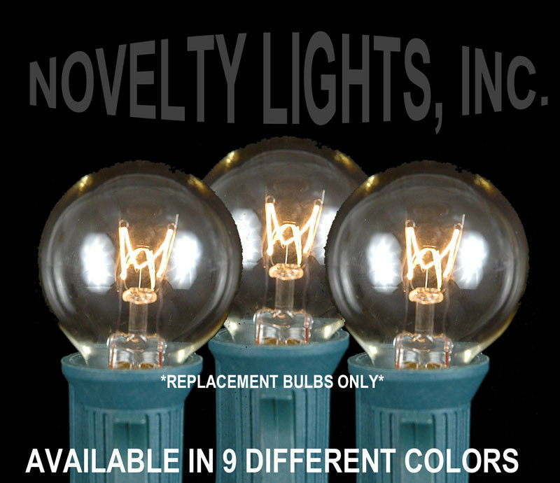 Porch Light Bulb Replacement: 25 Pack G30 Outdoor Patio Christmas Wedding Globe Shape