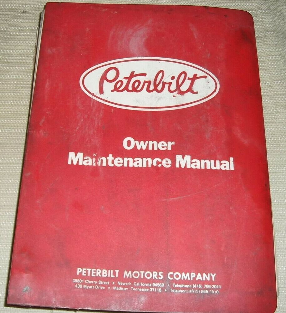 Peterbilt 362 Shop Manual