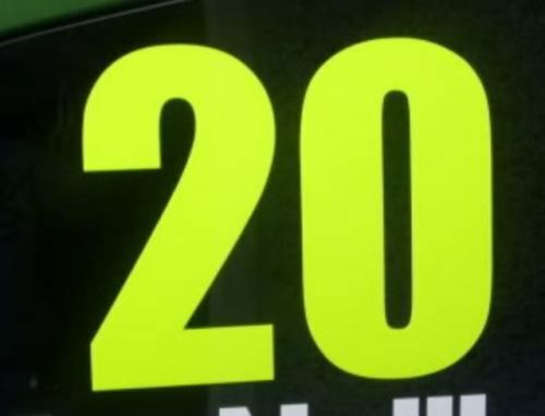 150mm Rally Windscreen Number Fluorescent Stickers Racing