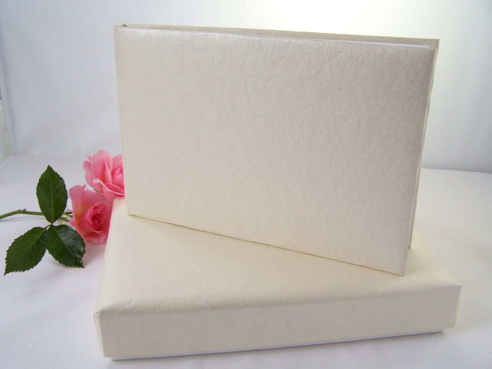 Plain Blank Undecorated Cream Guest Book DIY Wedding Christening Guest Bo