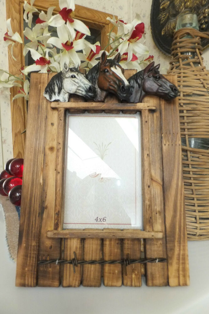 3 Horse Heads Picture Frame Ebay