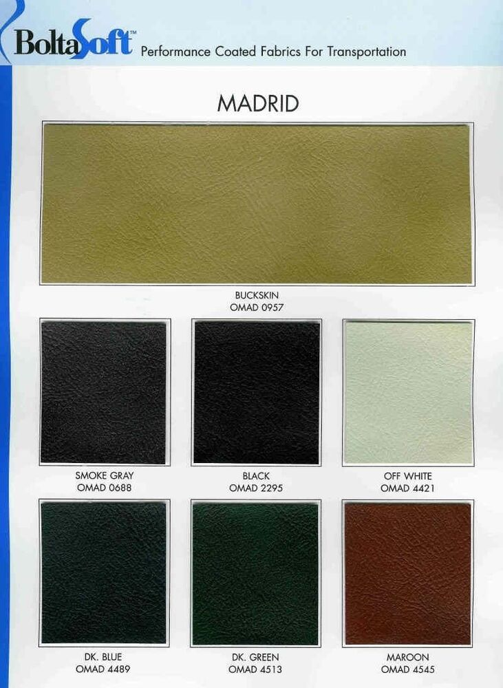 Madrid Leather Like Vinyl For General Automotive Seating