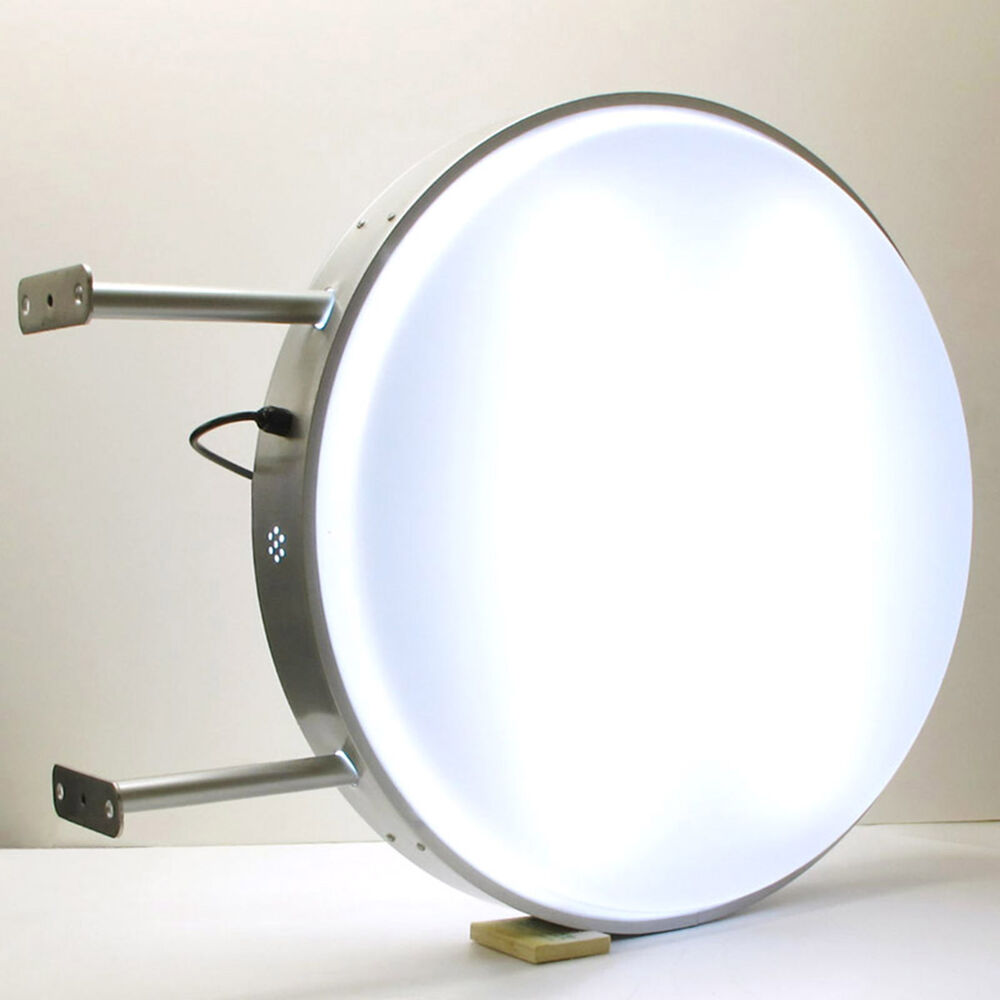 70cm Round Fluorescent Tube Double Sided Outdoor Projecting Light Box Sign Plain Ebay
