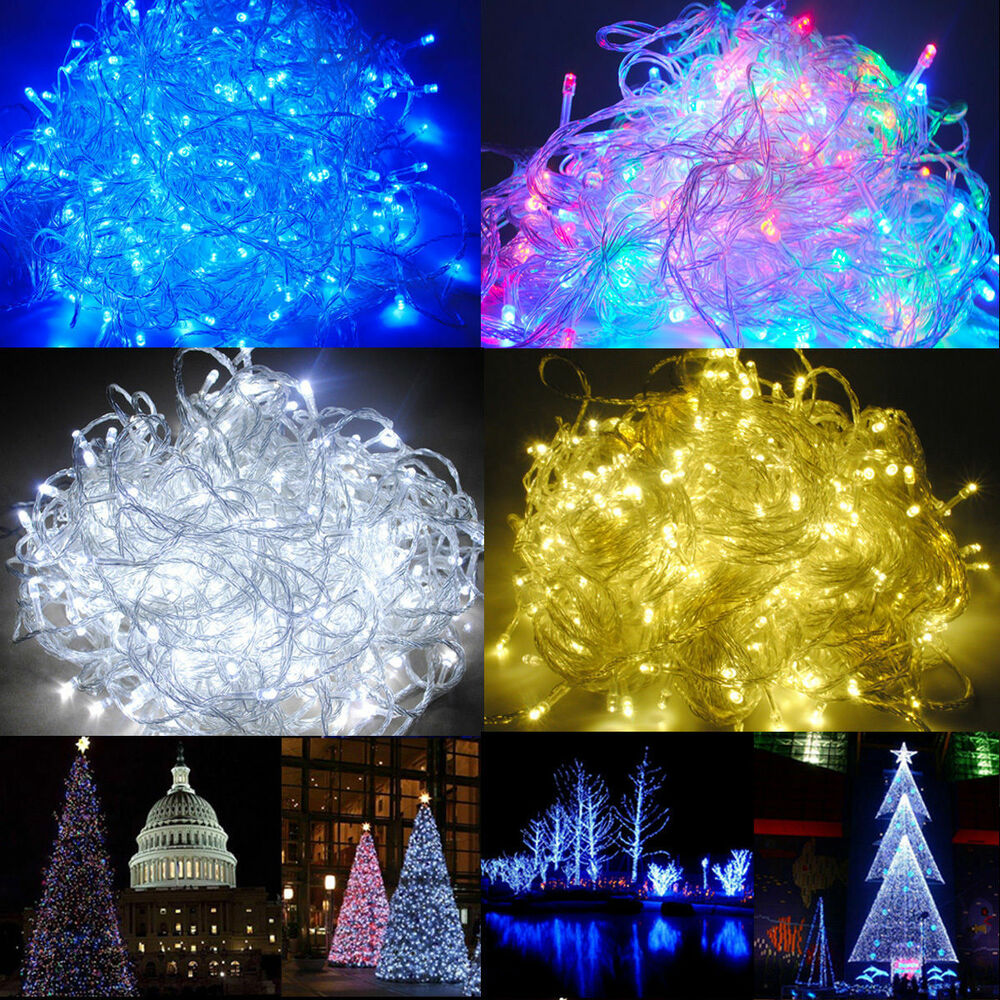 10m 100 led christmas tree fairy string party lights lamp xmas - 10m 20m 35m 50m 100m Led String Fairy Lights Lighting