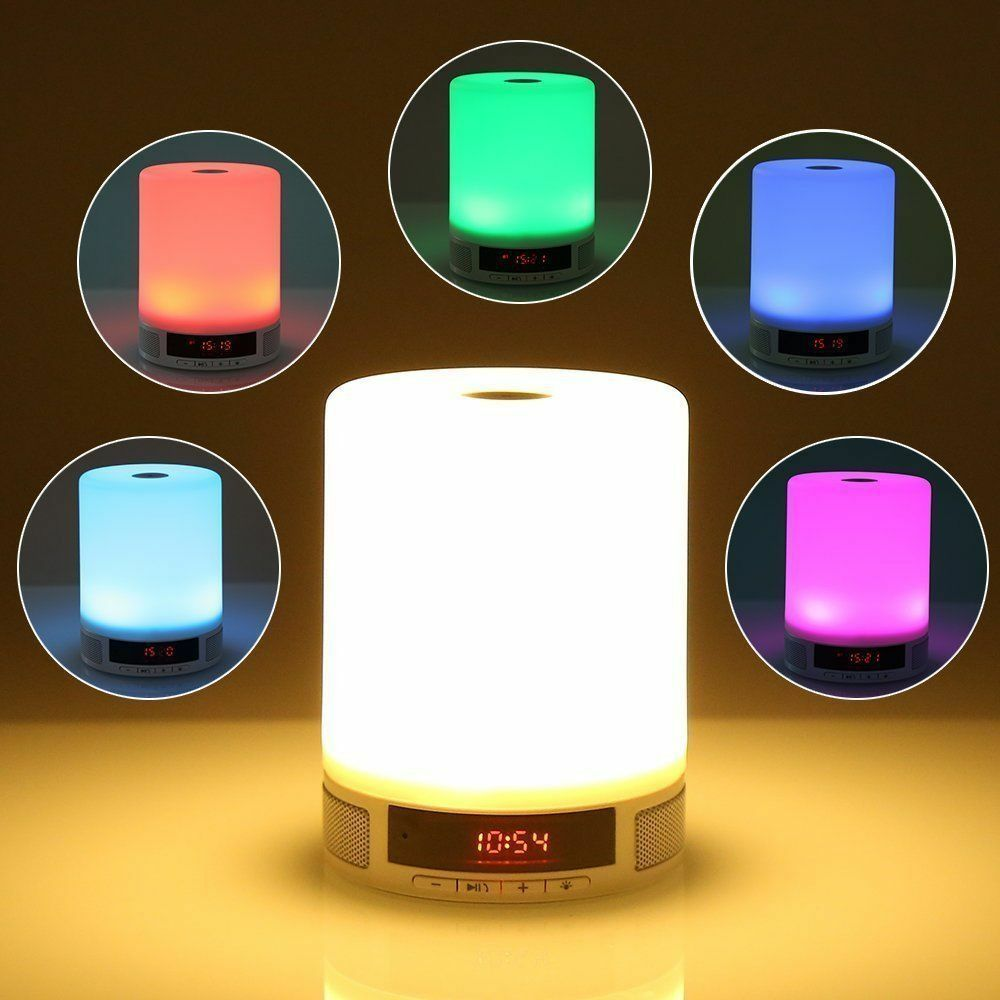 Wireless bluetooth speaker stereo touch control led light lamp music player nxet ebay - Lettore musicale wifi ...