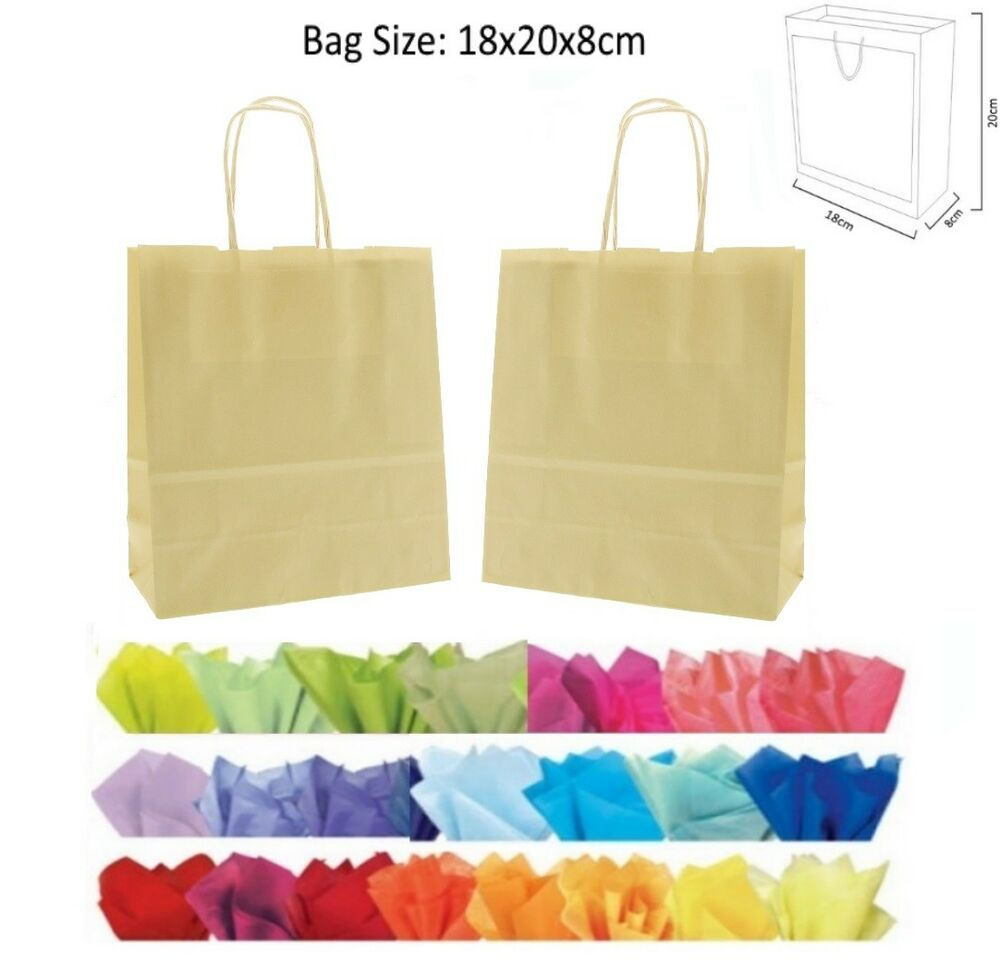 Cheap 20x18x8cm Cream Paper Party Loot Bag Wedding Favour Gift Bags Amp Tissue