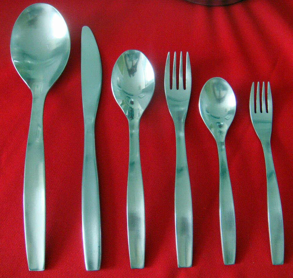 Gourmet settings loft stainless flatware ebay - Gourmet settings silverware ...