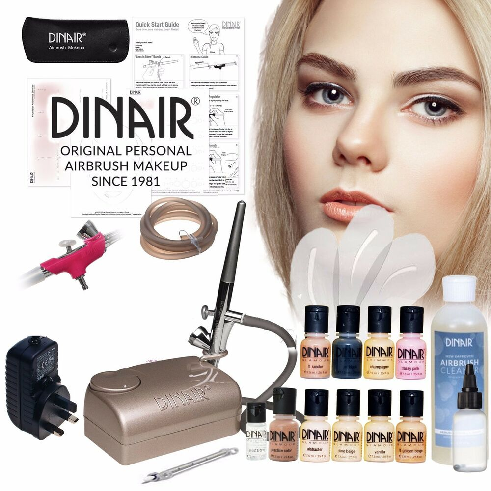 Airbrush Kits through Dinair, Professional and Personal Makeup Solutions