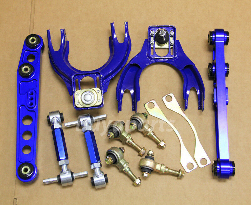 Blue Front Rear Upper Lower Control Arm Camber Suspension