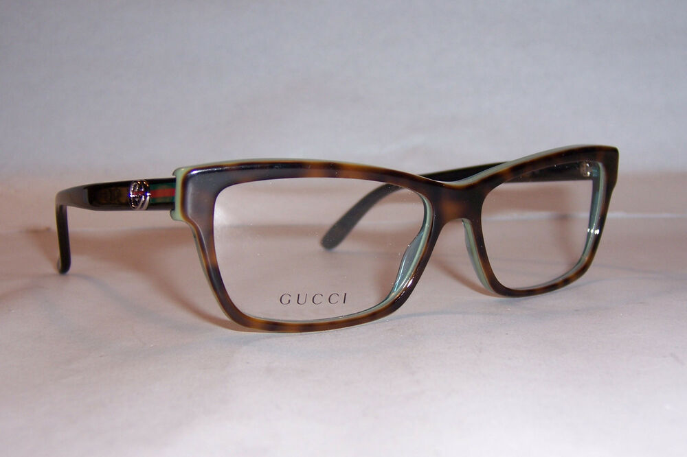 New Gucci Eyeglasses GG 3562 LA2 Havana Green 53mm RX ...