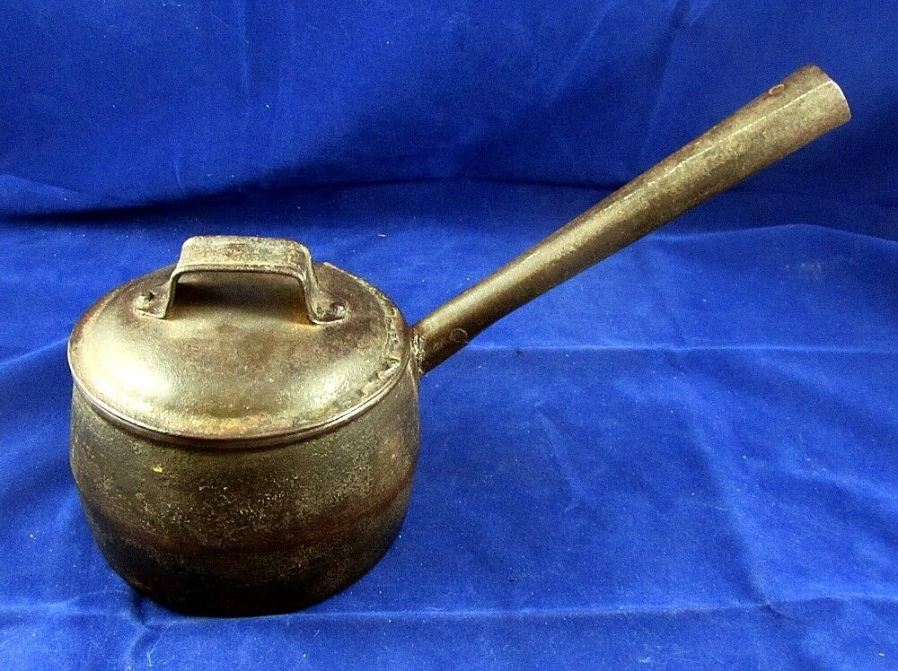 Fabulous th c wrought cast iron cooking pot for