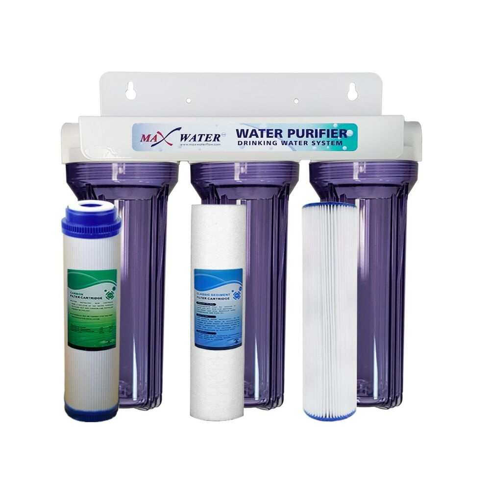 Max Water All Clear 3 Stage Whole house Home water filter