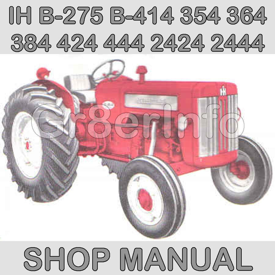 Case IH 354 Tractor Parts – Ih 284 Wiring Diagram