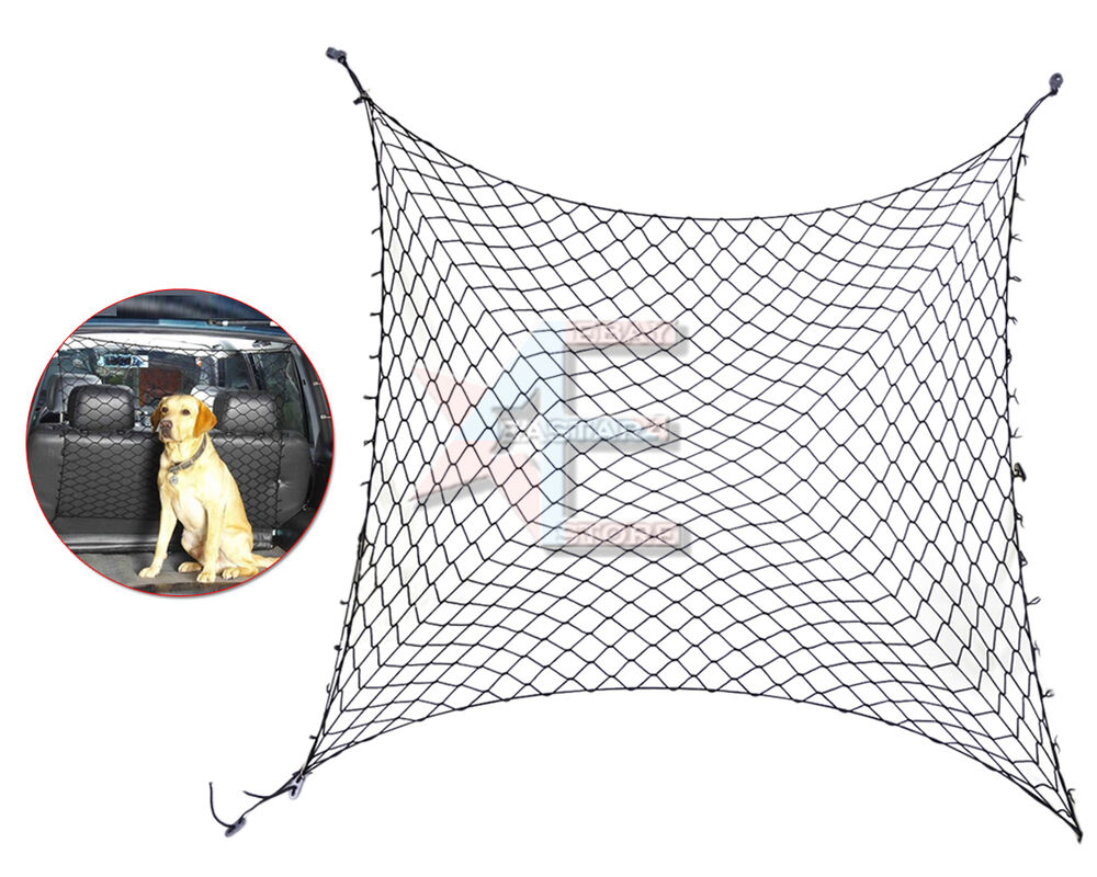 Vehicle Cargo Nets : Car van suv truck cargo seat area pet dog barrier net
