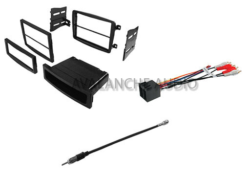 mercedes c class din car stereo dash installation kit w wire harness ebay