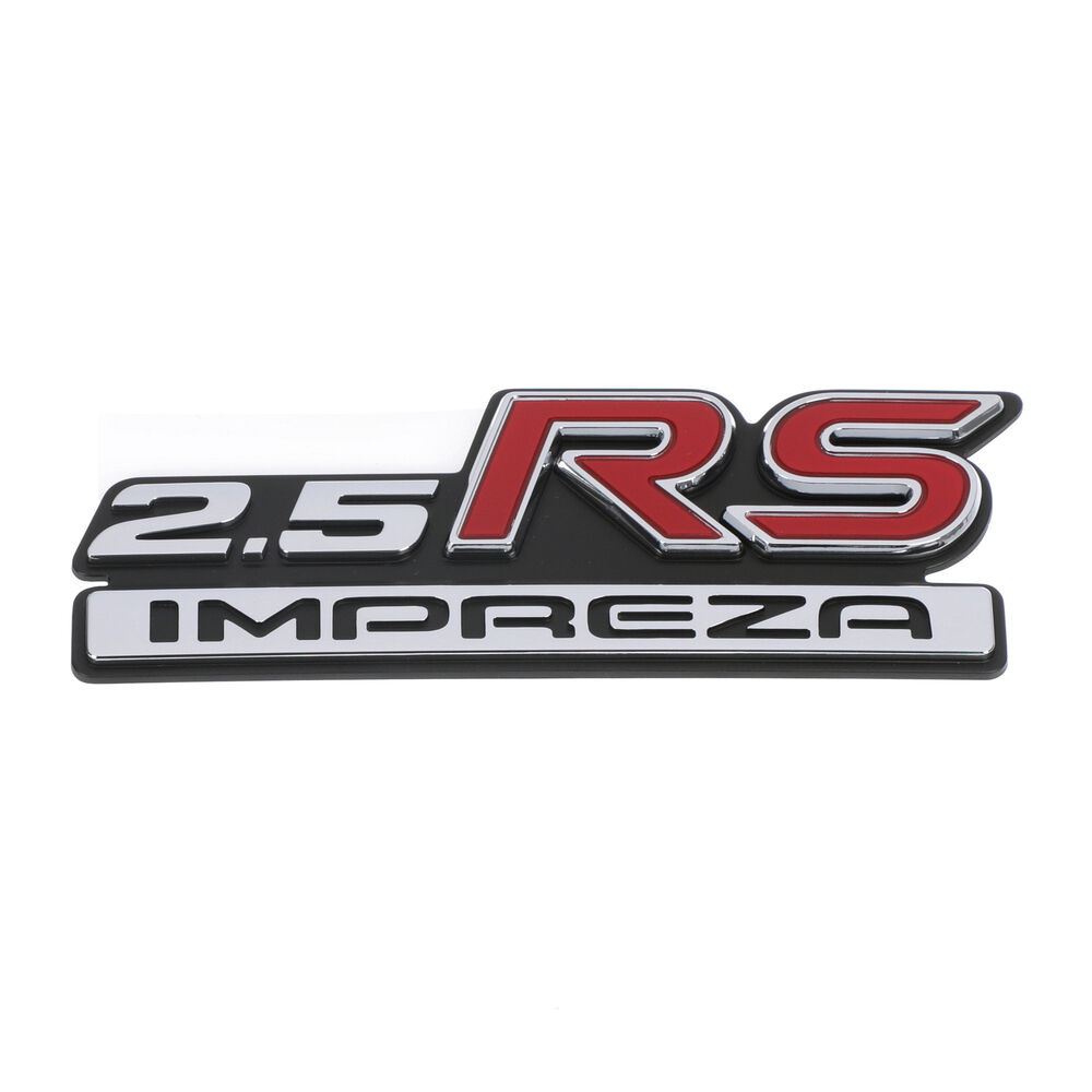 1998 2001 subaru impreza 2 5 rs emblem oem new genuine ebay. Black Bedroom Furniture Sets. Home Design Ideas