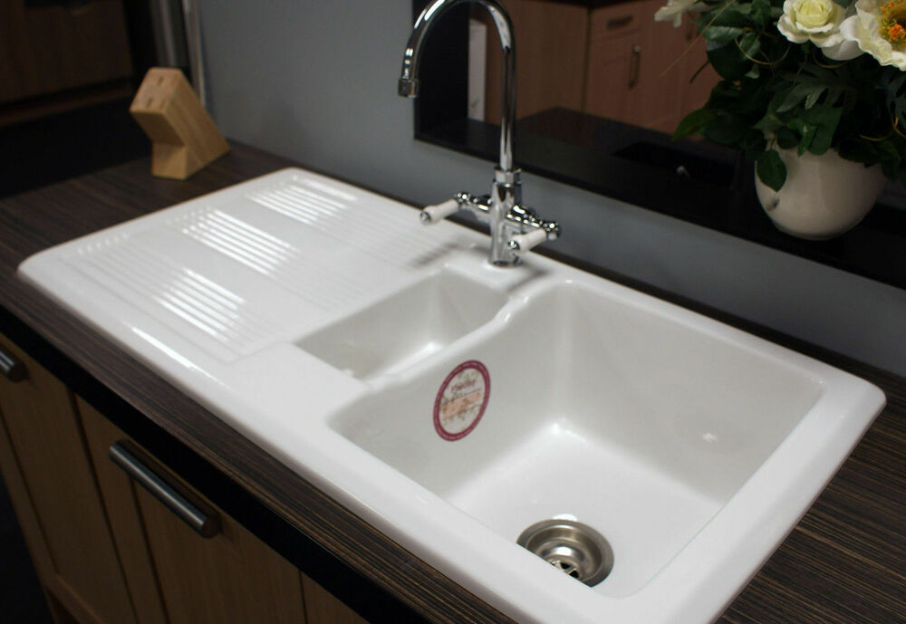 ebay sinks kitchen rak ceramic kitchen sink 1 5 bowl 10 year rak guarantee 3516