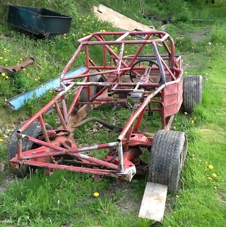 Race Car Chassis Roller With Spare Frame