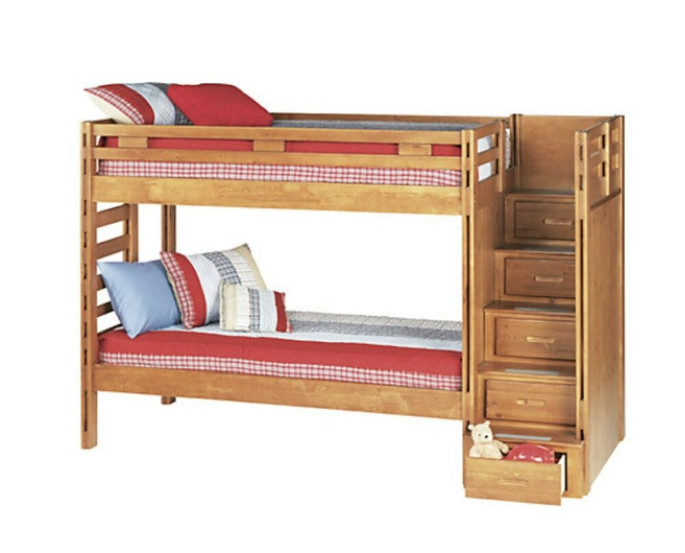 Creekside Twin Kids Bunk Bed Stairs Ladder Bunky Boards