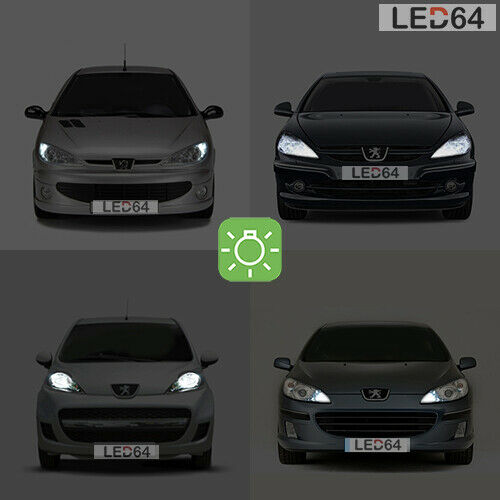 2 ampoules led veilleuses blanc pour peugeot 206 207 307 407 508 3008 4008 ebay. Black Bedroom Furniture Sets. Home Design Ideas