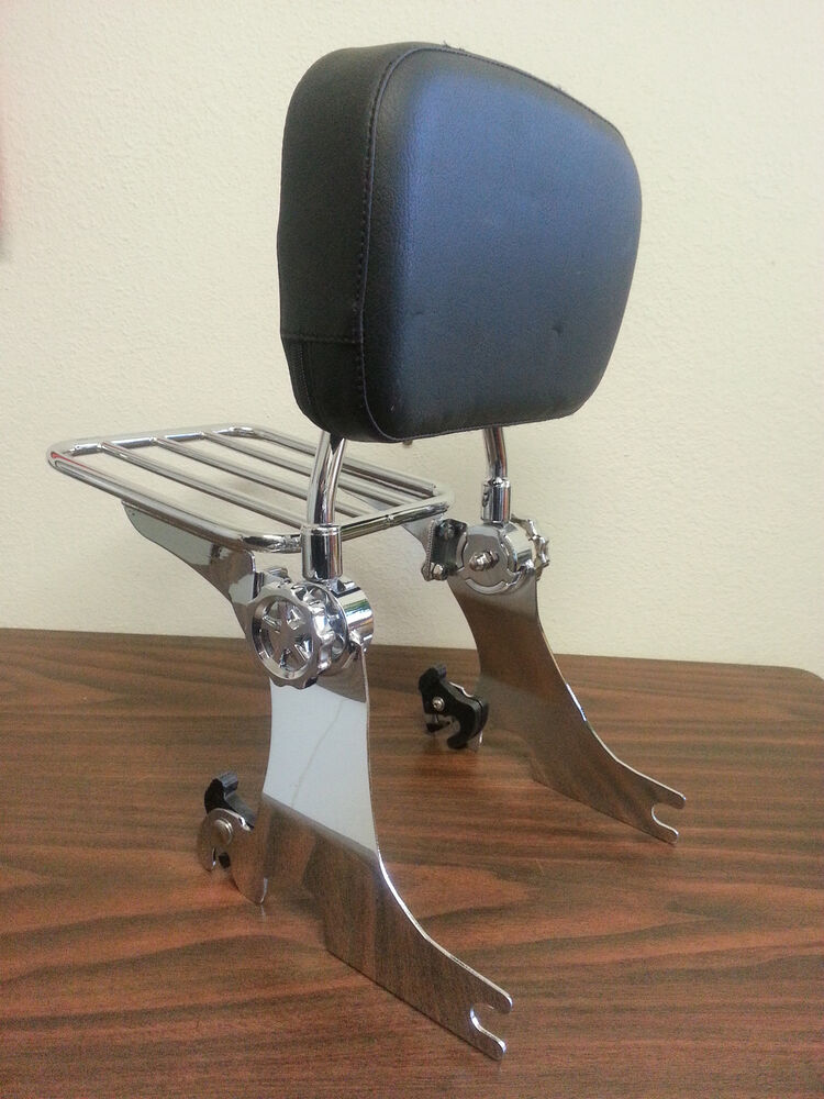 detachable backrest sissy bar for harley sportster 94 03 ebay. Black Bedroom Furniture Sets. Home Design Ideas