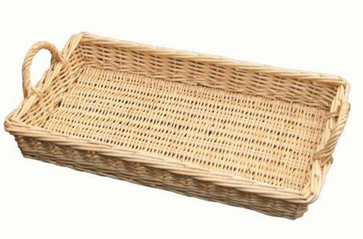 large wicker caterers tray handles willow storage basket shop food display bread ebay. Black Bedroom Furniture Sets. Home Design Ideas
