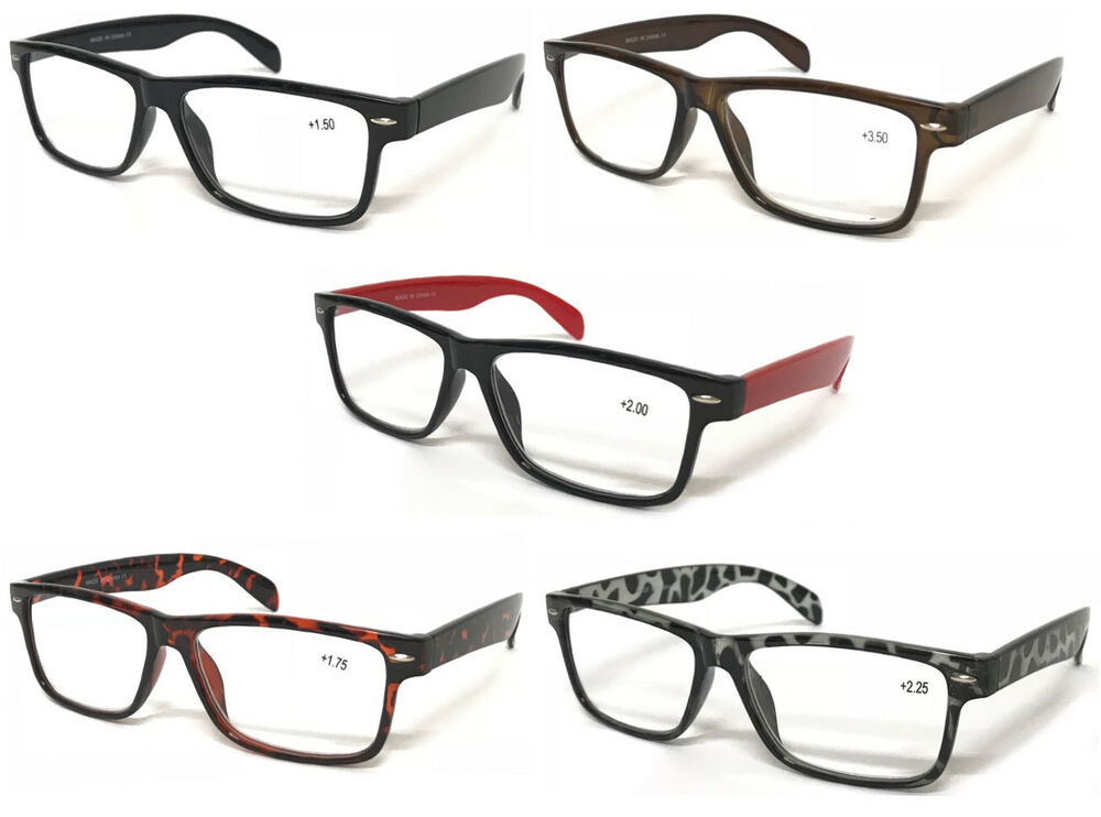 Reading Glasses Large Frame : L142 Wayfarer Reading Glasses & Super Classic Fashion ...