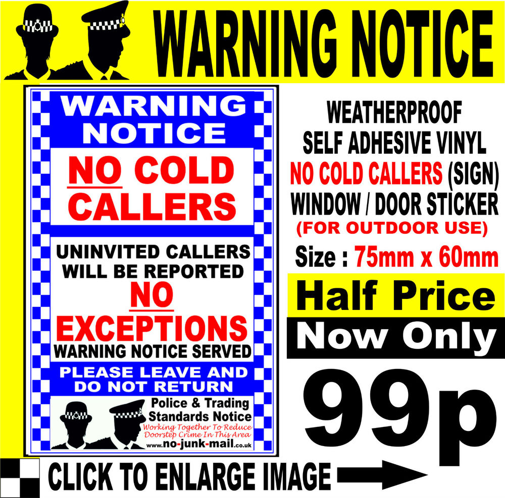 how to stop cold callers at the door