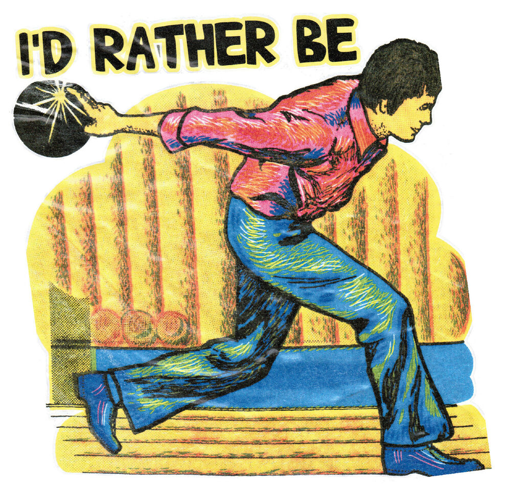 I 39 d rather be bowling vintage 70 39 s roach t shirt transfer for 70 s t shirt transfers