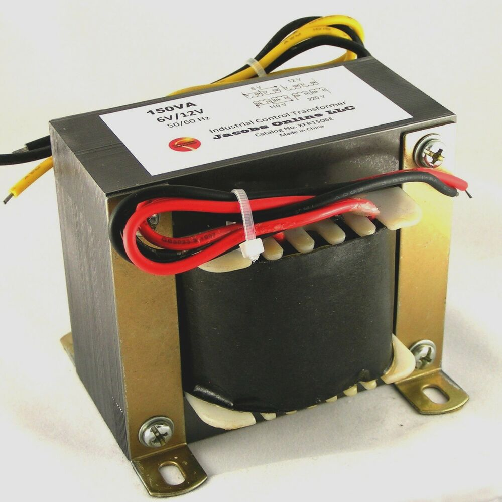 Transformer Electrical Step Down 150va 6 12v Output For Foam To 120v Wiring Diagram Free Picture Cutting Etc Ebay