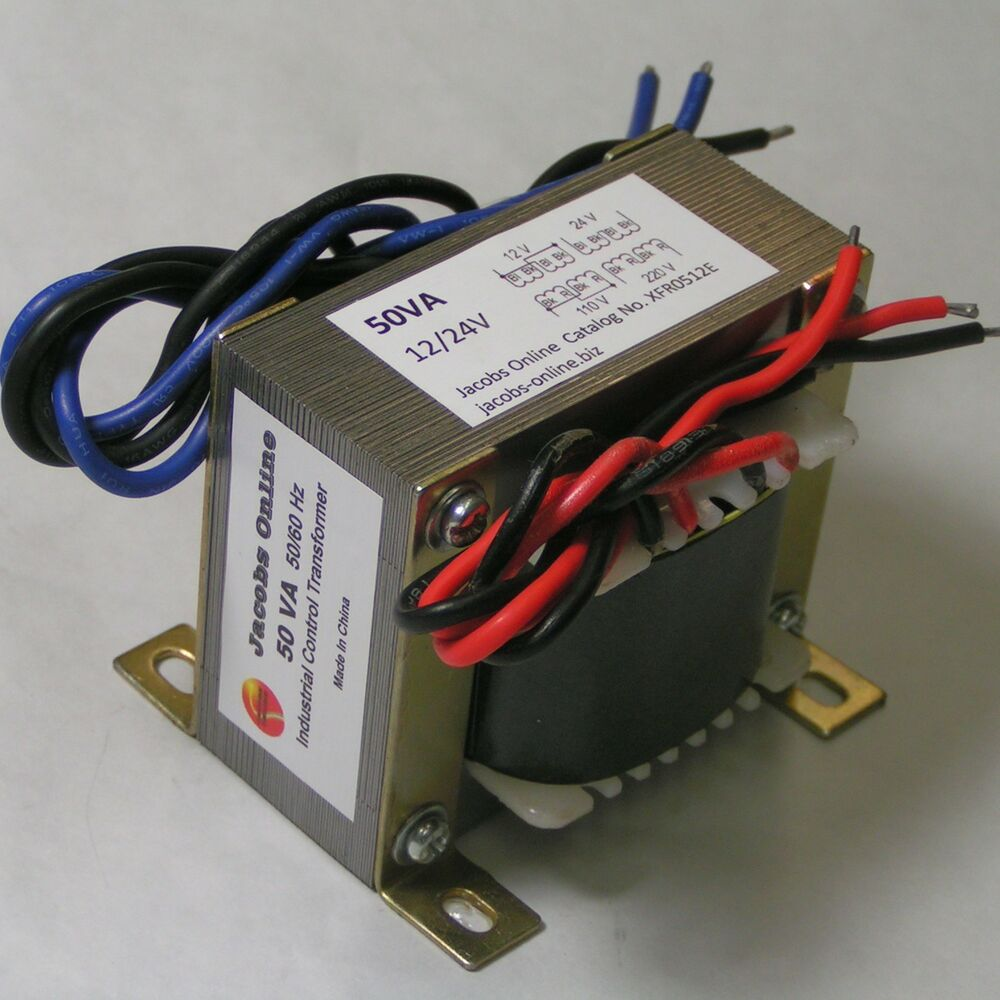 Transformer, Electrical, step-down 50VA 12/24V output, foam cutting ...