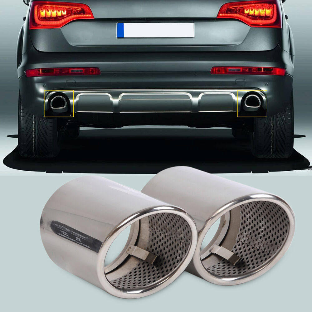 2013 Audi Q7 Tdi: 2PCS CHROME EXHAUST TAIL MUFFLER TIP PIPE For Audi Q7 3.0