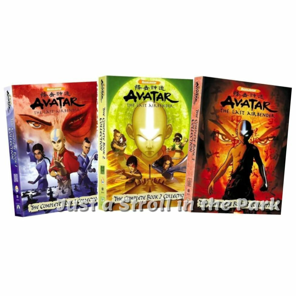 Avatar The Last Airbender Complete TV Series Book 1 2 3